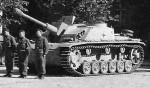 German assault gun StuG 40 ausf G and crew