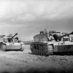 StuG 40 Ausf G guns with side schurzen
