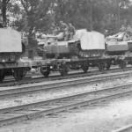 StuG 40 Ausf G with side skirt armor plates rail transport