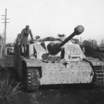 StuG 40 Ausf G with spaced armour plates