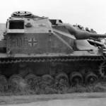 Abandoned German assault gun StuG IV number 115