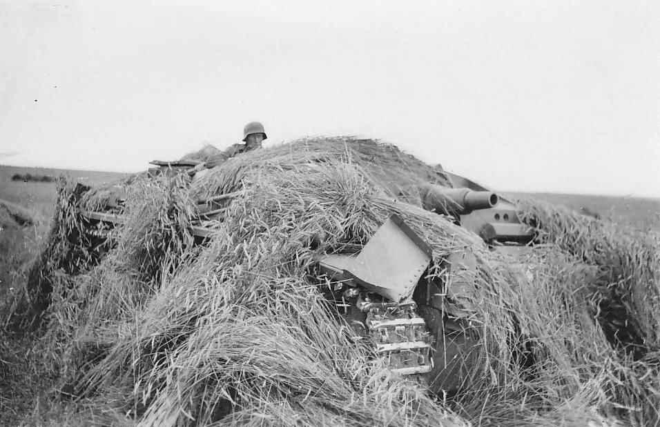 Camouflaged Sturmgeschutz StuG III