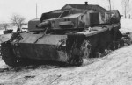 German assault gun StuG III Ausf E suffered an internal explosion