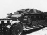StuG III ausf A on trailer
