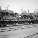 StuG III during rail transport