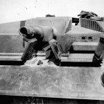 StuG III with damaged gun
