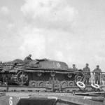 StuG III on bridge