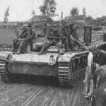 StuG III with German troops
