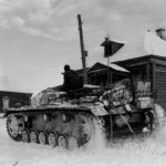 German assault gun StuG III in winter