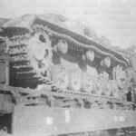 Assault gun StuG III rail transport