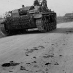 German assault gun StuG III Ausf B on the road