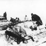Sturmgeschutz III Ausf E and Panzer III in winter