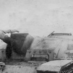 Destroyed StuH 42 winter