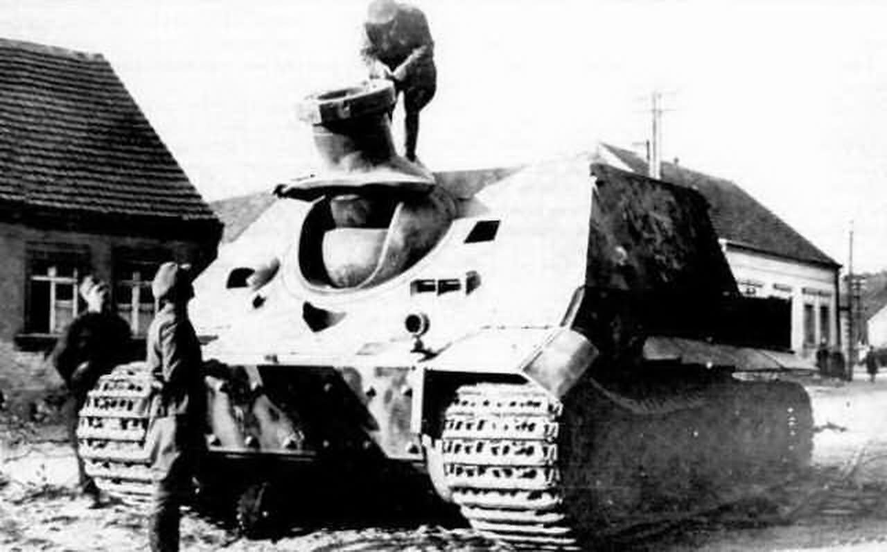 Sturmtiger of the Sturm-Mörser-Batterie 1000 – captured prototype Fgst. Nr. 250043, Nyékládháza Hungary Eastern Front