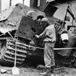 Sturmtiger 250327 of the Sturm-Mörser-Batterie 1001, Oberembt Germany 1945 – rear