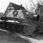 Captured Sturmtiger from Sturm-Mörser-Batterie 1001 at Drolshagen April 1945