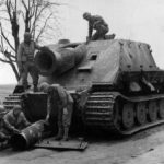 Sturmtiger of the Sturm-Mörser-Batterie 1002 captured by US forces, Calbe Germany 1945
