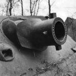 Sturmtiger captured at Oberembt – gun mantlet
