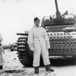 Tauchpanzer III and panzerman in winter uniform