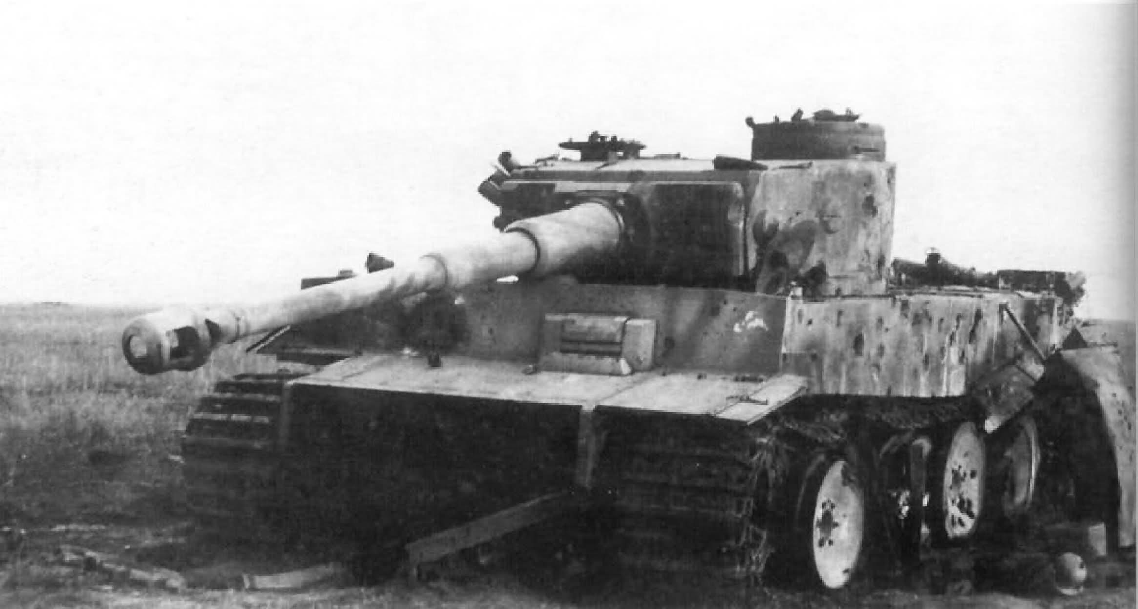 Destroyed Panzer VI Tiger of Schwere Panzer-Abteilung 505, tank ...
