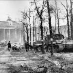 Tiger of the Panzerabteilung Muncheberg Berlin 1945 Brandenburger Tor