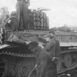 Tiger tank 332 of schwere Panzer Abteilung 509 with steel roadwheels