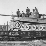 Tiger tank 233 of schwere panzer abteilung 503 rail transport