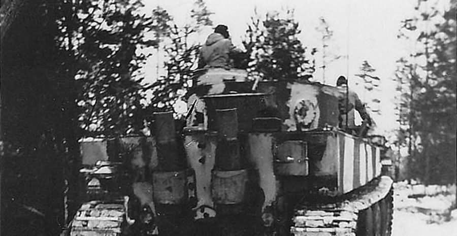 Tiger tank of schwere panzer abteilung 502. Tank number 123 Eastern Front winter