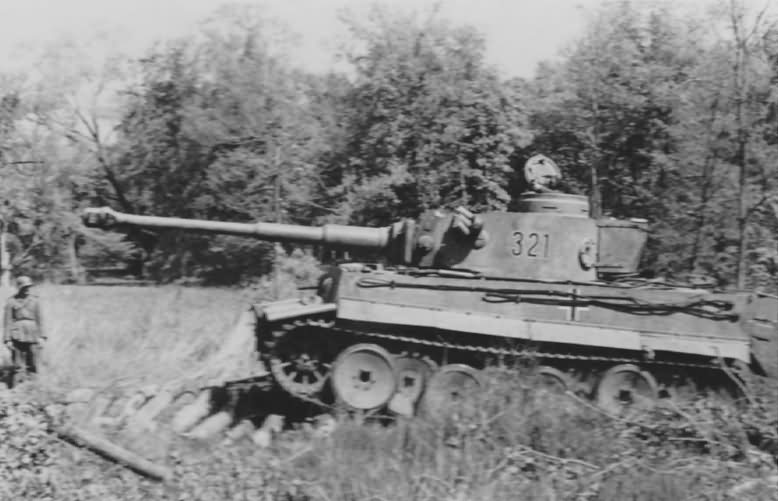 Tiger I number 321 sPzAbt. 503 11 during field exercises