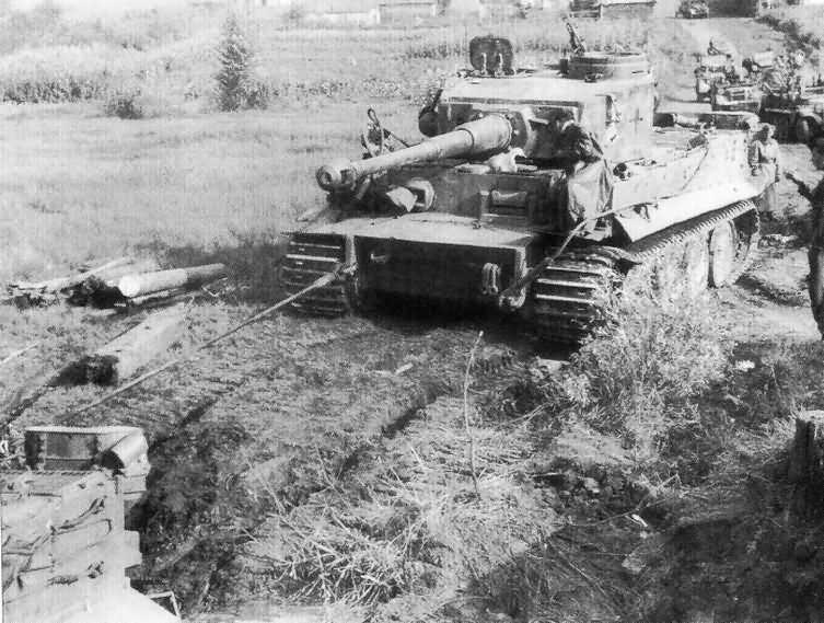 Tiger I of Schwere Panzer-Abteilung 503 (sPzAbt. 503), tank number 331 during field exercises