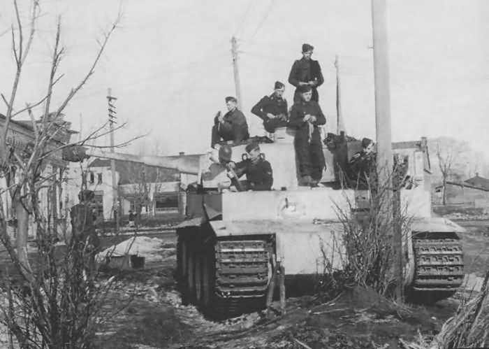 Tiger I number 832 of 8/SS Panzer Regiment 2 Das Reich, 1942/43