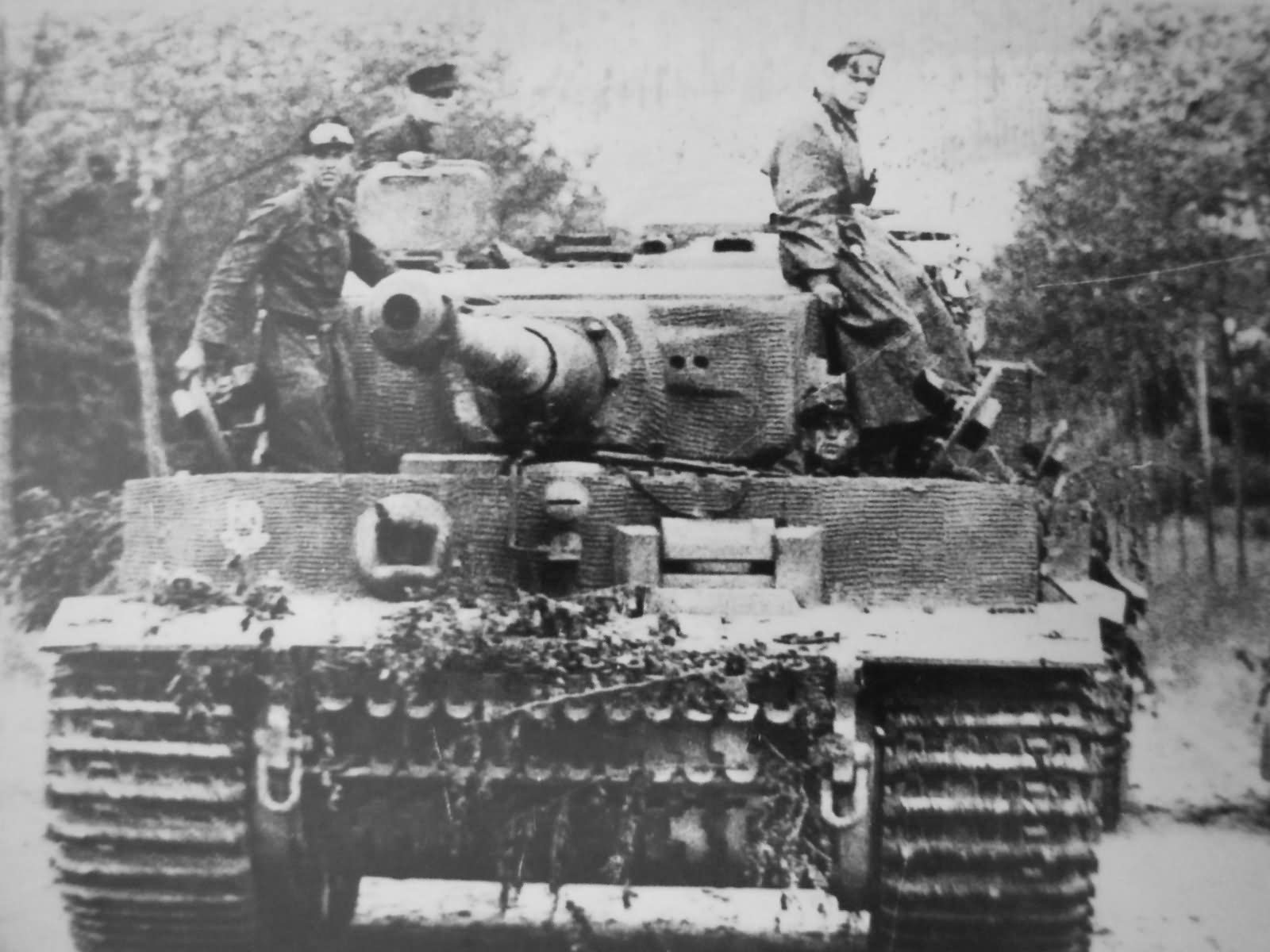 German Tiger I ausf E number 232 of the Schwere SS-Panzer Abteilung 101