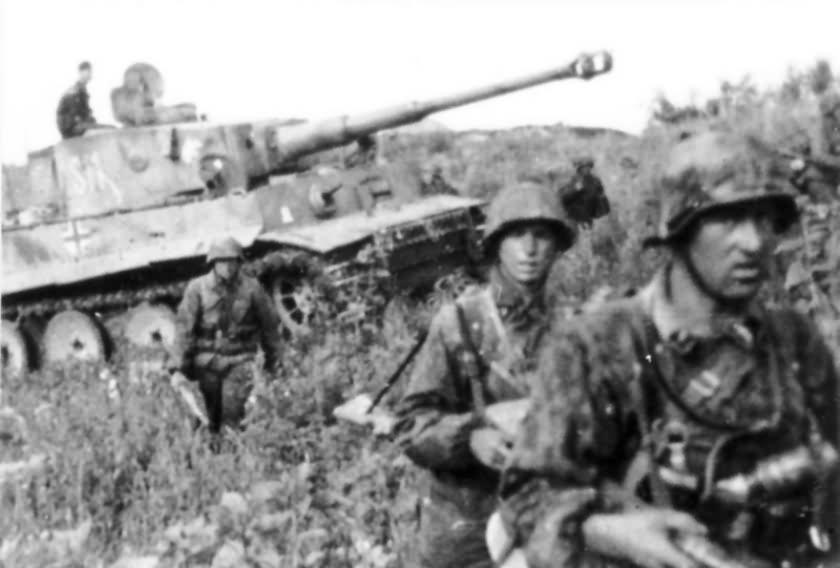 Panzer VI Tiger code S11 of Schwere Panzerkompanie SS-Panzer Regiment 2 Das Reich Kursk