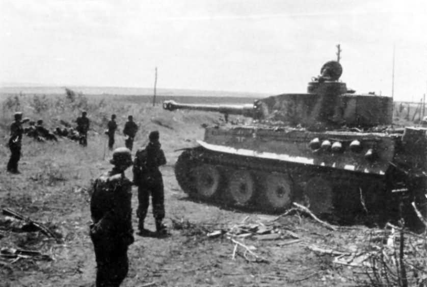 Panzer VI Tiger S34 of Schwere Panzerkompanie SS-Panzer Regiment 2 Das Reich Kursk 1943