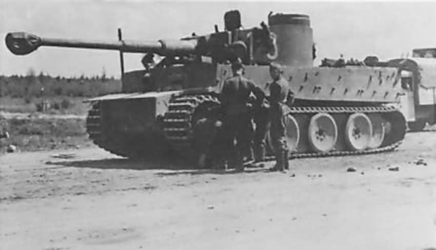 Early Tiger tank number 13 of schwere panzer abteilung 502
