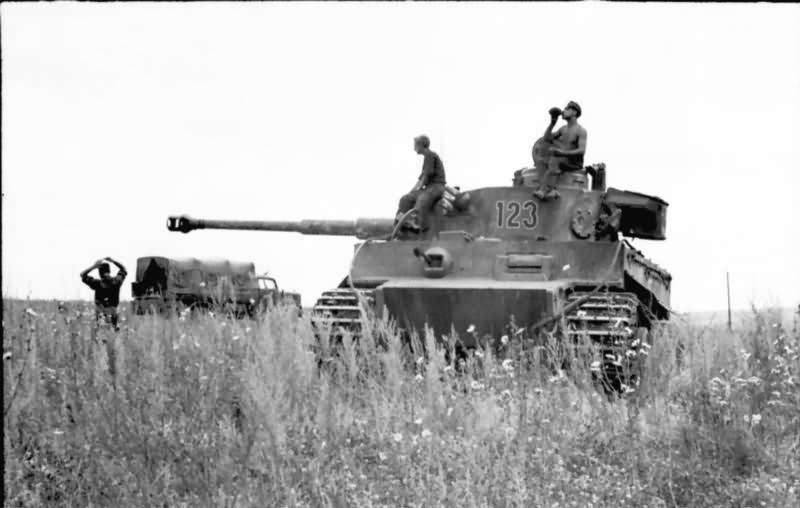 Tiger tank number 123 of Schwere Panzer Abteilung 503 1943