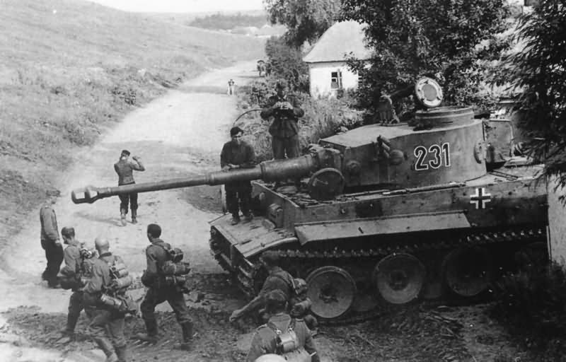 Tiger tank number 231 of Schwere Panzer Abteilung 503 during field exercises
