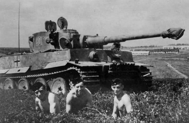 Heavy tank Tiger I of the Schwere Panzer Abteilung 503, tank number 300. Eastern Front