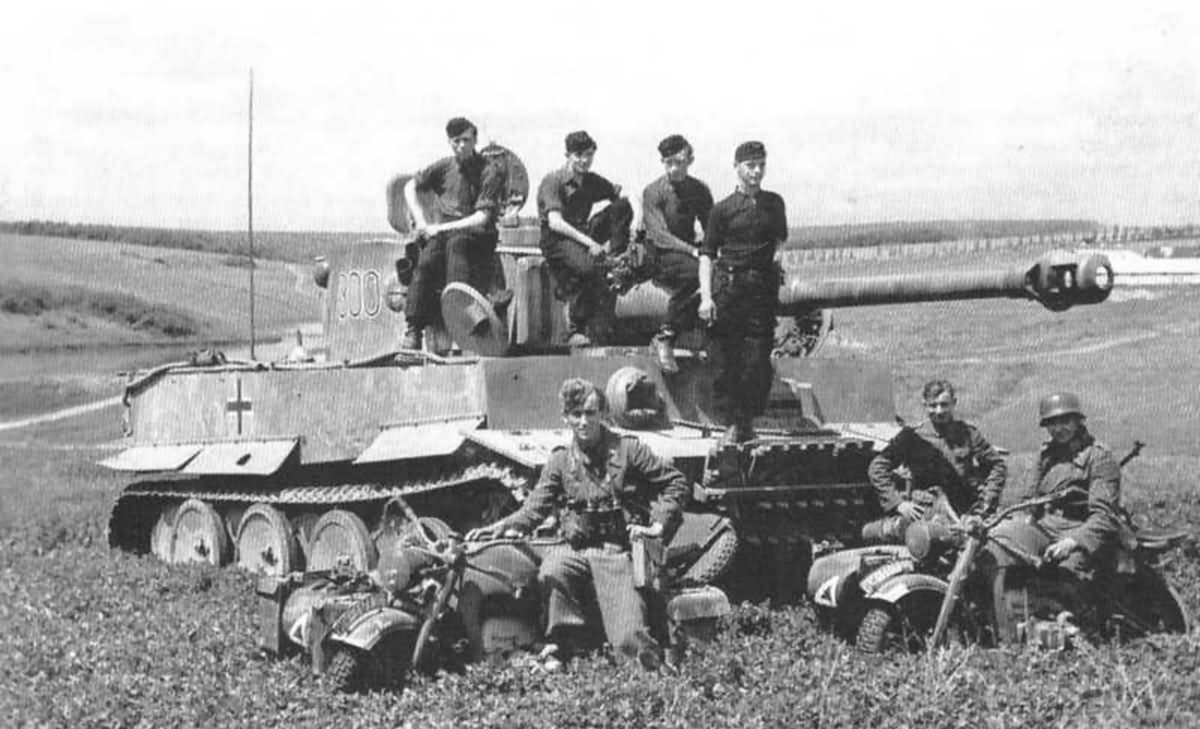 Heavy tank Tiger of the Schwere Panzer Abteilung 503, tank number 300. Eastern Front