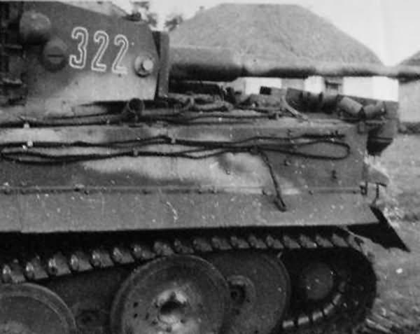 Tiger of the Schwere Panzer-Abteilung 505, tank number 322
