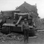 German Tiger tank number 201 of schwere Panzer Abteilung 301 (Fkl) in Elsdof 1945