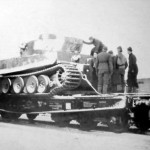 Tiger tank 222 of schwere Panzer Abteilung 502 on Type SSyms 80 Heavy Flatcar