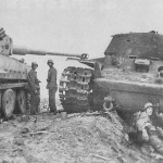 Tiger I number 223 of Schwere Panzer-Abteilung 502 and KV-1S tank 1943