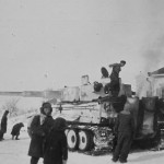 Tiger tank of 2nd SS Panzer Division Das Reich eastern front winter
