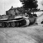Tiger tank of schwere panzer abteilung 502. Tank number 332 Eastern Front winter camuflage