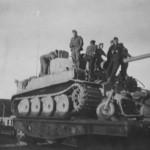 Tiger I of the Schwere Panzer Abteilung 502 rail transport