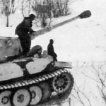 Tiger (the initial production vehicle) of schwere Panzer Abteilung 502 tank number 1 winter