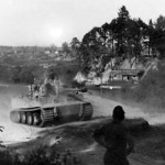Tiger tank of the schwere panzer abteilung 502, tank number 21