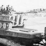 Tiger tank of the schwere panzer abteilung 503. France 1944 rear