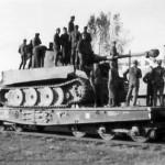 Tiger tank of schwere panzer abteilung 502 on Schwere Plattformwagen Type SSyms
